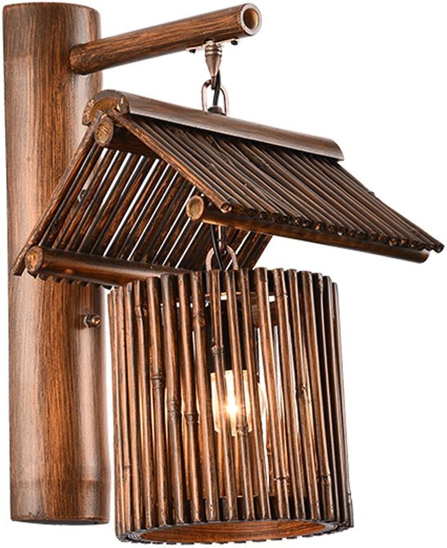 CCF Bambus Kunst Wandleuchte Laterne Wandleuchte Schlafzimmer Nachttischlampe Bar Licht ITMTH