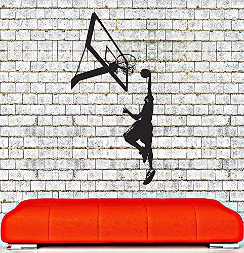 SUPERSTICKI basketbal mand ca. 60 cm muursticker sticker professionele kwaliteit voor gladde oppervlakken stickers