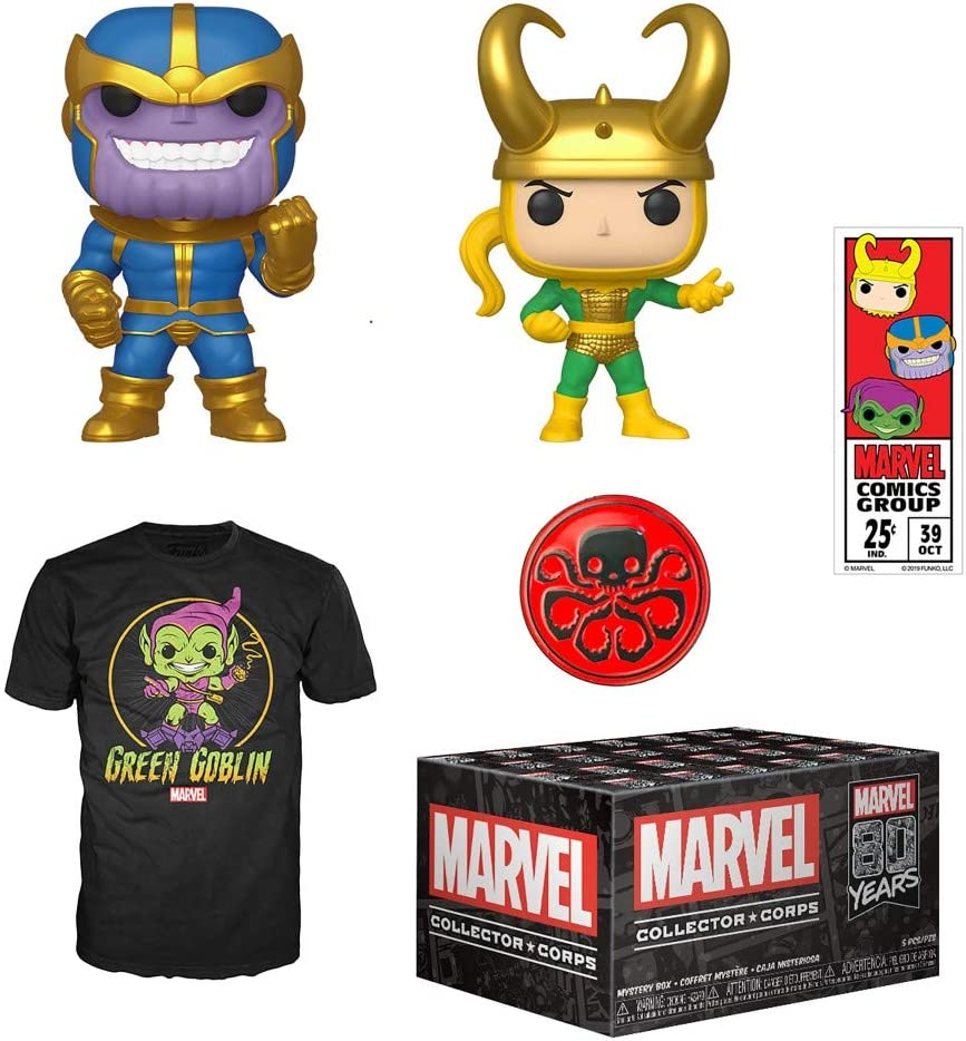 XL T-Shirt September 2019 Funko Marvel Collector Corps Subscription Box Marvel 80th Anniversay Theme