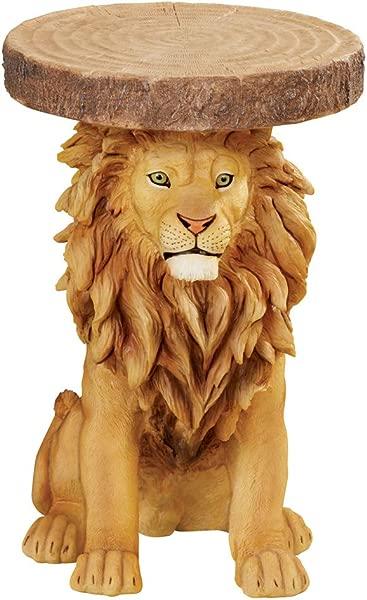 狮子人造原木口音侧表独特的狩猎风格装饰口音的客厅