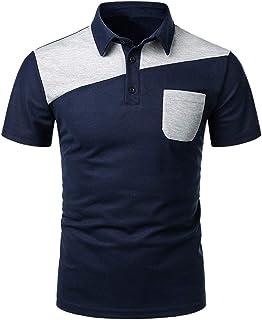 Moda Cosiendo Polos Hombres Camisas Explosión Color De Contraste ...