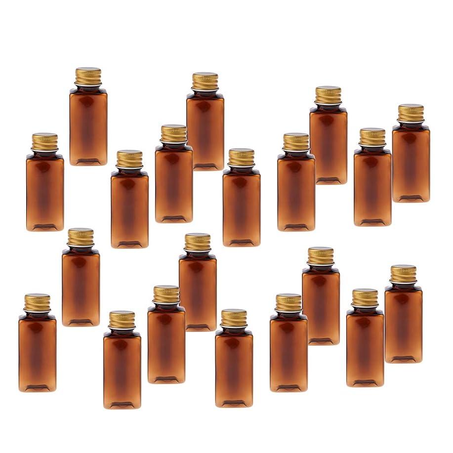 勤勉な粒子欠伸T TOOYFUL 30ML 空のボトル 詰め替え 化粧ボトル 漏れ防止 ネジ蓋付き PETボトル 旅行用 約20個入り - ブラウンゴールド