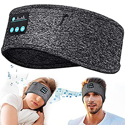 Sleep Headphones Headband Gadgets Gifts for Men & Women, Dad Gifts Fathers Day Personalised Gifts Sleeping Headphones Bluetooth 5.0 Headband Birthday Gifts, Ultra-Soft Wireless Music Headphones from HIGHEVER