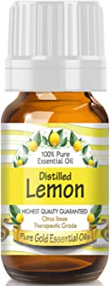 Pure Gold Distilled Lemon Essential Oil, 100% Natural & Undiluted, 10ml