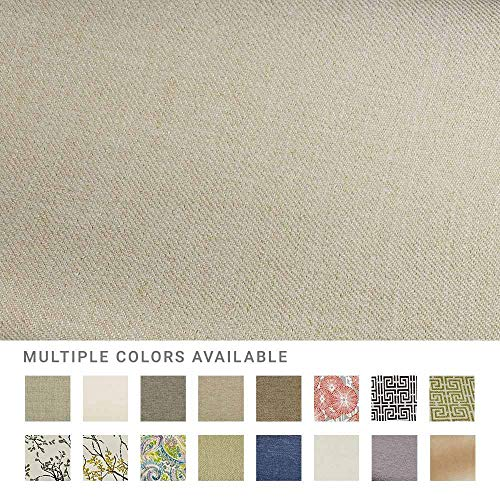 eLuxurySupply Fabric by The Yard - 100% Polyester Upholstery Sewing Fabrics with LiveSmart Technology - Broderick Natural Pattern