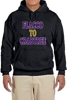 Tobin Clothing Black Baltimore Flacco to Crabtree Hooded Sweatshirt