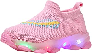 Kids Boys Girls Led Luminous Light up Candy Color Shoes Sport Run Easy to wear Breathable Sneakers