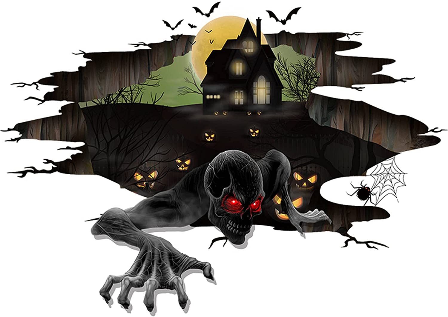 Novania Halloween Horror Don't Our shop OFFers the best service miss the campaign Demon Wall Art Decor DIY Remo Stickers