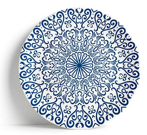 Sabella Home - Piatto da portata, 40,6 cm, colore: Blu Fez