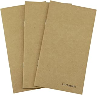 Dot Grid Notebook/Journal Inserts - Refill for Travelers Notebook by ai-natebok - 7.4 X 4 Inch - Set of 3-240 Pages