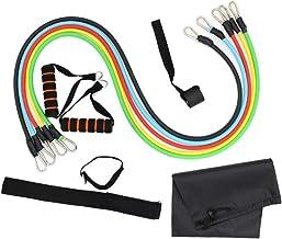 XWXBB 11-delige weerstandsbandset, fitnessriem met deuranker, handvat, enkelriem, waterdichte draagtas. Voor krachttrainin...