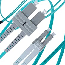 LC to SC Fiber Patch Cable Multimode Duplex - 1m (3.28ft) - 50/125um OM3 10G - Beyondtech PureOptics Cable Series