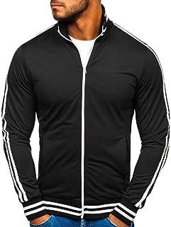 VANVENE Mens Casual Sweater Full Zipper Sweatershirt Top
