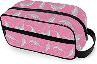 Doughnut Narwhal Portable Toiletry Bag Travel Wash Bag Daily Handbag Cosmetic Bag Luggage Pouch