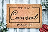 We are Covered Psalm 91 Religious Doormat Psalms