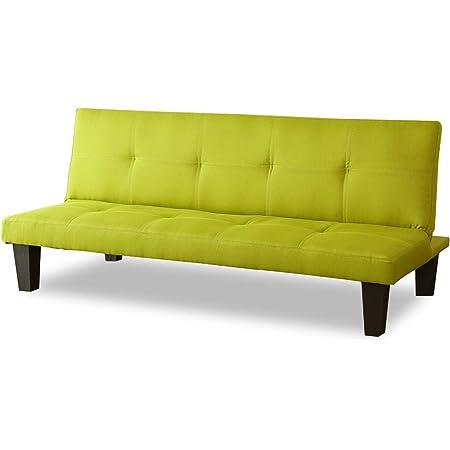DORIS ソファーベッド ソファベッド ソファー 3人掛け 布製 幅165 グリーン シャンブル