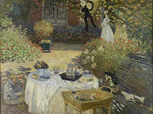 Artland Alte Meister Premium Wandbild Claude Monet Bilder Poster 60 x 80 cm Le Déjeuner Kunstdruck Wandposter Impressionismus R0HE