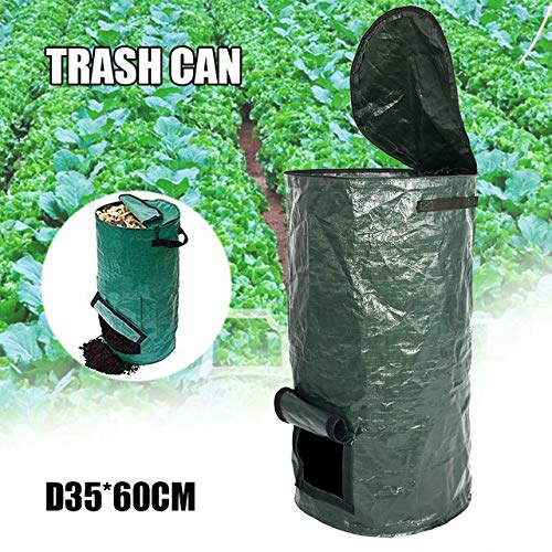Best Bargain JYEMDV Reuseable Garden Leaf Waste Can Yard Compost Bin for Fruit Kitchen Waste Grower ...