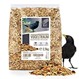 cuore di animale selvatico   sogno degli uccelli mangime speciale per merli con bacche e frutta - mangime premium per uccelli selvatici i mangime per tutto l'anno (2,5 kg)