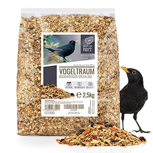 wildtier herz   Alimentación para Pájaro - 2,5kg con Bayas y Frutas - Comida Especial para Mirlos I Aves para Alimentos - Comida Premium para Aves