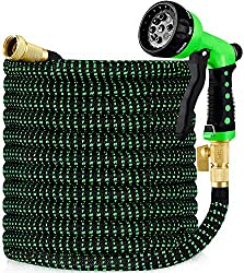 top 10 snake hose lowes 2 Hblife 150ft Garden Hose, All New Expandable Water Hose with 2020 3/4 inch Brass Solid Fitting,…