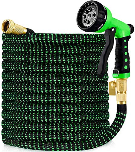 HBlife 50ft Garden Hose, All New Expandable Water Hose with 3/4' Solid Brass Fittings, Extra...