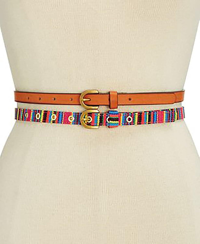 INC International Concepts Striped 2for1 Belt