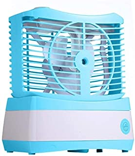 SHANGRUIYUAN-Mini Fan Air Humidifier Mini USB Water Mist Fan Cooler Summer Air Chilling Fan Portable for Habitation Office (Color : Blue)