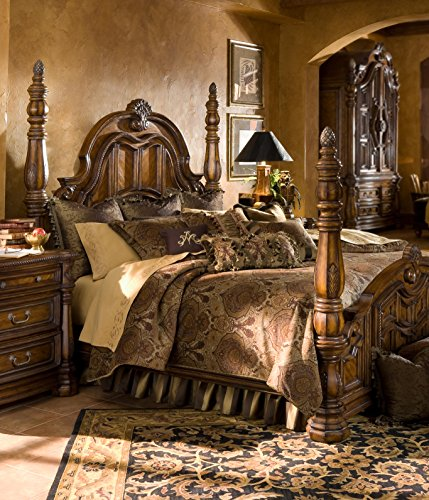 Hot Sale Michael Amini Pontevedra 12 pc Queen Comforter Set in Olive by AICO