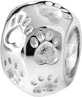 MATERIA Damen Bead Anhänger 925 Silber Live Love Laugh antik für Beads Armband