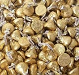 CrazyOutlet Gold Hershey's Kisses Creamy Milk Chocolate, Limited Edition Gold Wrapping Candy Bulk, 2 Lbs