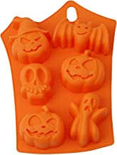 Moule à chocolat 3D en silicone en forme de citrouille, fantôme, tête de mort, chauve-souris, pour Halloween, fête, mariag...