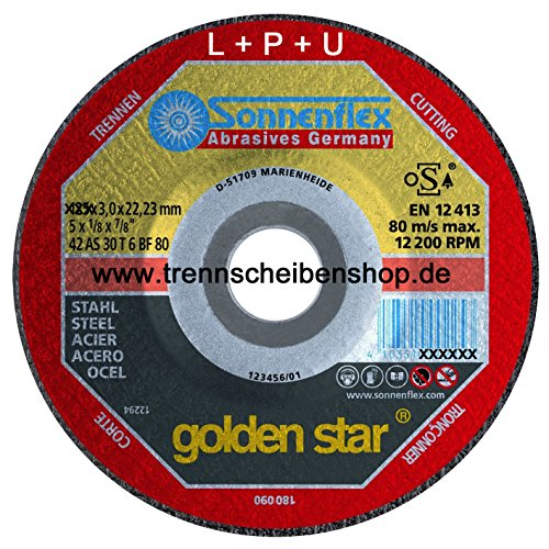 Sonnenflex Trennscheibe 355 x 4,0 x 25,4 AS 30 T 6 BF Stahl