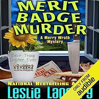 Merit Badge Murder audiobook cover art