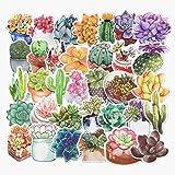 ジャション かわいい植物 お花 ステッカー シール ステッカーセット 防水 ステッカー ブランド  お気に入りのスーツケース、ギター、車、バイク、自転車、ヘルメット、パソコン、携帯、ノート、 タブレット