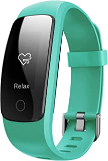 Fitness Tracker HR,Teslasz T107Plus Bluetooth 4.0 Pedometer with Heart Rate Monitor Auto Sleep Monitor Activity Tracker for Android iOS Smart Phone