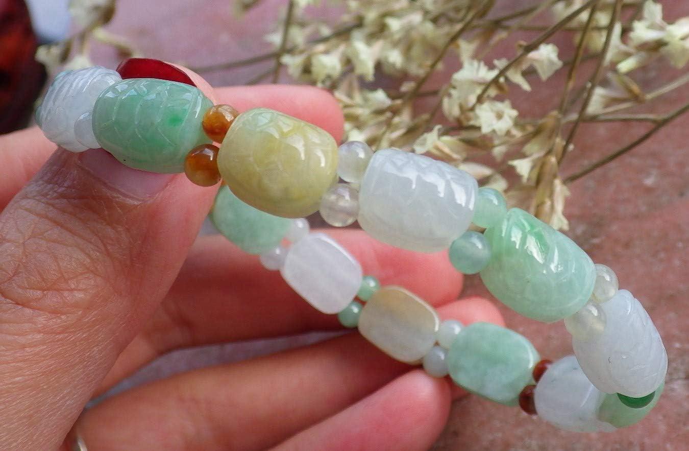 gojade Certified 3 Color Natural 100% A Jade Jadeite Bead Bangle Longevity Turtle Bracelet 发财长寿龟手链 724050 UK