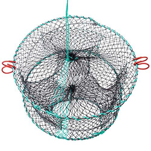FFNIU Crab Trap, Fishing Bait Foldable Net Cast Dip Cage for Crab Fish Minnow Crawdad Shrimp