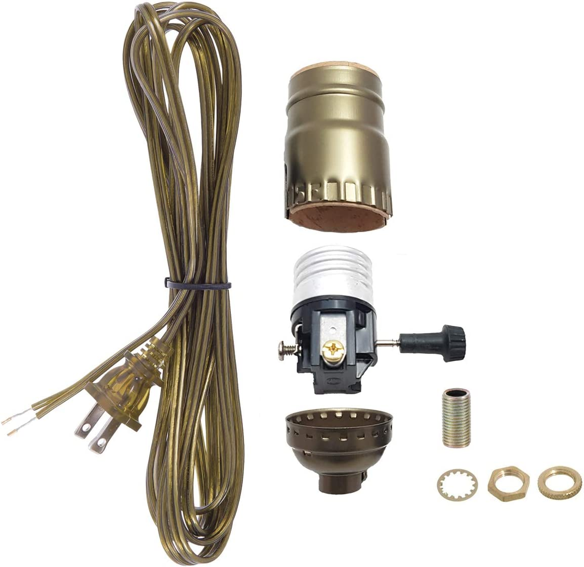 BP Lamp Antique Brass Socket with Matching Cord Limited Special Price Set Basic In a popularity and H