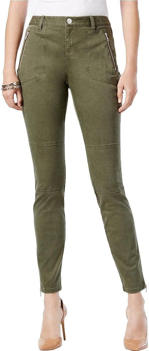 I-N-C Womens Skinny Casual Chino Pants, Green, 4