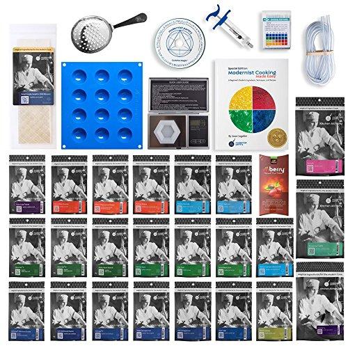 ULTIMATE Molecular Gastronomy 'Made Easy' Starter Kit ⊘ Non-GMO ❤ Gluten-Free ✡ OU Kosher Certified Ingredients