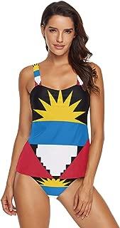 Antigua and Barbuda Flag Womens Two Piece Bikini Set Swimwear Beachwear