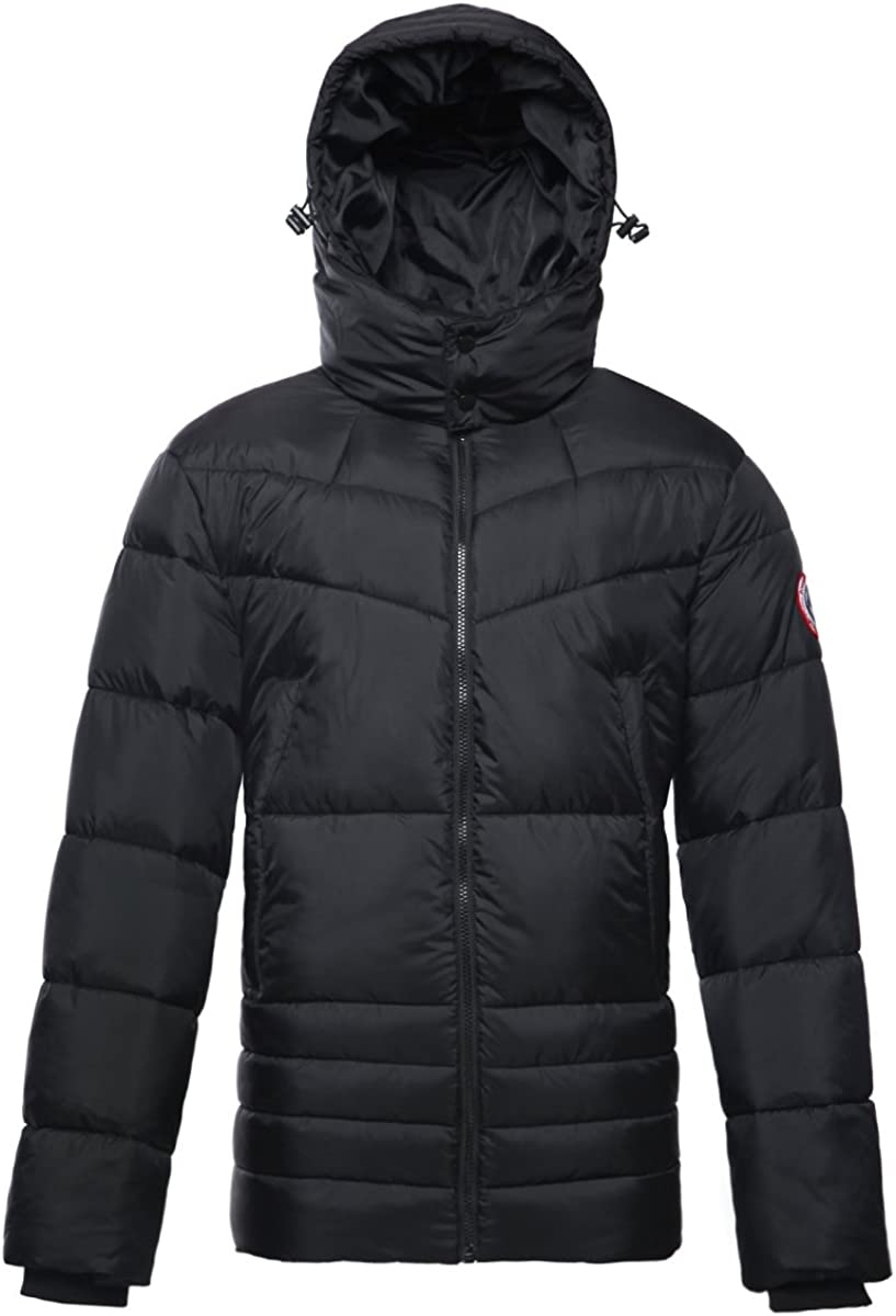 Men's Water-Resistant Heavy Hooded All stores are sold Puffer Jacket C Popular brand Winter Bubble