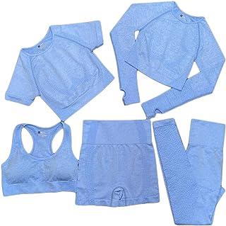 XFKLJ Sports Bra Yoga Pants Women Vital Seamless Yoga Set Workout Sport Wear Gym Clothes Short/Long Sleeve Crop Top High W...