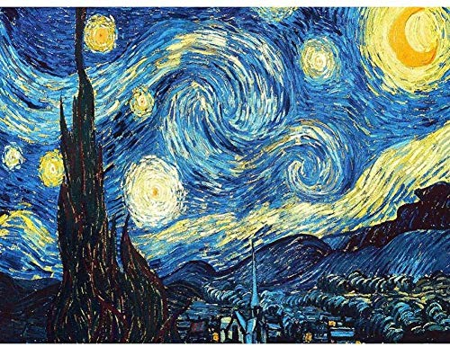 qfafz DIY 5D Diamant Malerei Heimtextilien Stickerei Van Gogh Sternennacht Kreuzstich Kit Abstrakt Erdöl Harz Hobby Handwerk 40X50 cm
