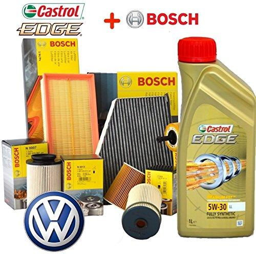 Kit tagliando olio CASTROL EDGE 5W30 5LT 4 FILTRI BOSCH 3C2