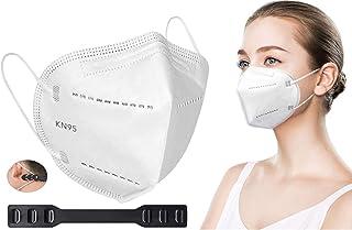 KN95 Face Mask, 5 Pcs of Pack with Mask Strap extender. خمس كمامات من خمس طبقات مع مع مشبك
