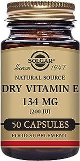 Solgar Vitamina E Seca 134 mg (200 UI) Cápsulas vegetales - Envase