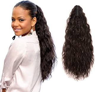 Synthetic Ponytail Hairpieces Kinky Straight Claw Ponytail Clip in Hair Extensions