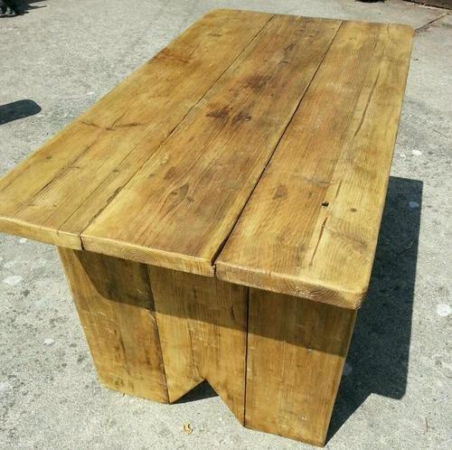 Tavolo da pranzo in legno rustico, 1,2 m, disponibile anche in altre misure